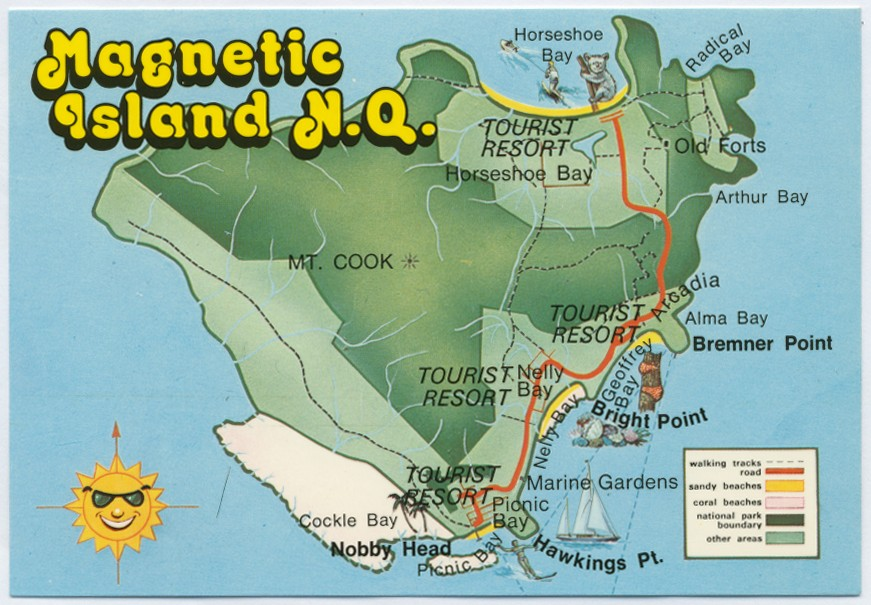 Magnetic Island Map Map of Magnetic Island | Queensland Places