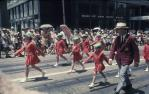"<span class=""caption-caption"">Grand parade, marching girls, Warana Spring Festival, Brisbane</span>, c1970. <br />Slide, collection of <span class=""caption-contributor"">Robin Barron</span>."