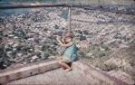 "<span class=""caption-caption"">Looking down from Castle Hill, Townsville</span>, 1962. <br />Slide, collection of <span class=""caption-contributor"">Beth Snewin</span>."