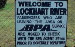 "<span class=""caption-caption"">Bush Pilots Airways sign, Lockhart River</span>, 1982. <br />Slide, collection of <span class=""caption-contributor"">Ruth Read</span>."