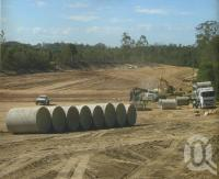 "<span class=""caption-caption"">Storm water pipes, Brisbane South Industrial Park</span>, 1997. <br />Digital image, collection of <span class=""caption-contributor"">Delfin Lend Lease Ltd</span>."