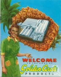 "<span class=""caption-caption"">Welcome to the home of Golden Circle products, Northgate</span>, 1947. <br />Booklet, collection of <span class=""caption-contributor"">John Young</span>."