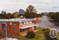 "<span class=""caption-caption"">Glass House Mountains</span>, 2003. <br />Photograph, collection of <span class=""caption-contributor"">John Young</span>."