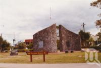 """<span class=""""caption-caption"""">Redcliffe foreshore memorial and RSL</span>, 2003. <br />Photograph, collection of <span class=""""caption-contributor"""">John Young</span>."""