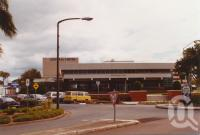 """<span class=""""caption-caption"""">Redcliffe council offices and Humpybong car park</span>, 2003. <br />Photograph, collection of <span class=""""caption-contributor"""">John Young</span>."""