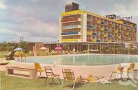 "<span class=""caption-caption"">Lennons Broadbeach Hotel</span>, c1962. <br />Postcard by <span class=""caption-publisher"">Murfett Publishers Pty Ltd</span>, collection of <span class=""caption-contributor"">Centre for the Government of Queensland</span>."