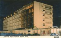 "<span class=""caption-caption"">Lennons Broadbeach Hotel</span>, 1960. <br />Postcard by <span class=""caption-publisher"">Gevaert</span>, collection of <span class=""caption-contributor"">Centre for the Government of Queensland</span>."