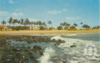 "<span class=""caption-caption"">Surfing Beach, Nielson Park, Bargara</span>, c1960. <br />Postcard, collection of <span class=""caption-contributor"">Centre for the Government of Queensland</span>."