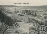 "<span class=""caption-caption"">Shelley (Shelly) Beach Caloundra</span>, c1935. <br />Postcard folder by <span class=""caption-publisher"">Southern Series</span>, collection of <span class=""caption-contributor"">Centre for the Government of Queensland</span>."