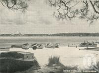 "<span class=""caption-caption"">Bribie Passage, Caloundra</span>, c1935. <br />Postcard folder by <span class=""caption-publisher"">Southern Series</span>, collection of <span class=""caption-contributor"">Centre for the Government of Queensland</span>."