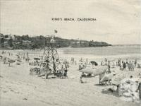 "<span class=""caption-caption"">King's Beach, Caloundra</span>, c1935. <br />Postcard folder by <span class=""caption-publisher"">Southern Series</span>, collection of <span class=""caption-contributor"">Centre for the Government of Queensland</span>."
