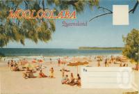 "<span class=""caption-caption"">Mooloolaba Beach, Point Cartwright in background</span>, c1961. <br />Postcard folder by <span class=""caption-publisher"">Sydney G Hughes Pty Ltd</span>, collection of <span class=""caption-contributor"">Centre for the Government of Queensland</span>."