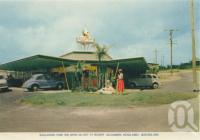 "<span class=""caption-caption"">Boolarong Park Inn, Drive-in Café at nearby Alexandra Headland</span>, c1961. <br />Postcard folder by <span class=""caption-publisher"">Sydney G Hughes Pty Ltd</span>, collection of <span class=""caption-contributor"">Centre for the Government of Queensland</span>."