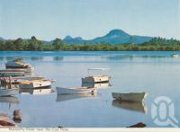 "<span class=""caption-caption"">Maroochy River near the Cod Hole</span>, c1964. <br />Postcard folder by <span class=""caption-publisher"">Bernard Kuskopf</span>, collection of <span class=""caption-contributor"">Centre for the Government of Queensland</span>."