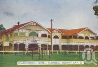 "<span class=""caption-caption"">Scarborough Hotel, Scarness, Hervey Bay</span>, c1950. <br />Postcard folder by <span class=""caption-publisher"">Murray Views Pty Ltd</span>, collection of <span class=""caption-contributor"">Centre for the Government of Queensland</span>."