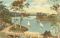 "<span class=""caption-caption"">Albert railway bridge Indooroopilly</span>, c1920. <br />Postcard by <span class=""caption-publisher"">QCM</span>, collection of <span class=""caption-contributor"">Centre for the Government of Queensland</span>."