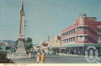 """<span class=""""caption-caption"""">Abbott Street, Cairns</span>, c1964. <br />Postcard folder by <span class=""""caption-publisher"""">John Sands Pty Ltd</span>, collection of <span class=""""caption-contributor"""">Centre for the Government of Queensland</span>."""