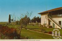 "<span class=""caption-caption"">Blackall Race-course Gardens</span>, c1964. <br />Postcard folder by <span class=""caption-publisher"">Sydney G Hughes Pty Ltd</span>, collection of <span class=""caption-contributor"">Centre for the Government of Queensland</span>."