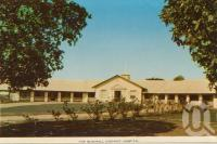 "<span class=""caption-caption"">Blackall District Hospital</span>, c1964. <br />Postcard folder by <span class=""caption-publisher"">Sydney G Hughes Pty Ltd</span>, collection of <span class=""caption-contributor"">Centre for the Government of Queensland</span>."