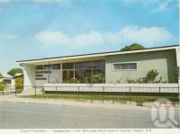 "<span class=""caption-caption"">Council Chambers - headquarters of the Dalrymple Shire Council, Charters Towers</span>, c1972. <br />Postcard folder by <span class=""caption-publisher"">Murray Views Pty Ltd</span>, collection of <span class=""caption-contributor"">Centre for the Government of Queensland</span>."
