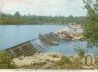 "<span class=""caption-caption"">The weir on the Burdekin River, Charters Towers</span>, c1972. <br />Postcard folder by <span class=""caption-publisher"">Murray Views Pty Ltd</span>, collection of <span class=""caption-contributor"">Centre for the Government of Queensland</span>."