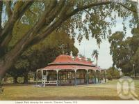 "<span class=""caption-caption"">Lissner Park rotunda, Charters Towers</span>, c1972. <br />Postcard folder by <span class=""caption-publisher"">Murray Views Pty Ltd</span>, collection of <span class=""caption-contributor"">Centre for the Government of Queensland</span>."