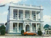"<span class=""caption-caption"">City Hall, Mossman Street, Charters Towers</span>, c1972. <br />Postcard folder by <span class=""caption-publisher"">Murray Views Pty Ltd</span>, collection of <span class=""caption-contributor"">Centre for the Government of Queensland</span>."