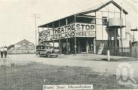 "<span class=""caption-caption"">Evans' Store, Maroochydore</span>, c1930. <br />Postcard folder by <span class=""caption-publisher"">Unknown Publisher</span>, collection of <span class=""caption-contributor"">Centre for the Government of Queensland</span>."