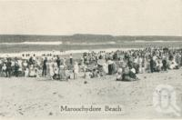 "<span class=""caption-caption"">Maroochydore Beach</span>, c1930. <br />Postcard folder by <span class=""caption-publisher"">Unknown Publisher</span>, collection of <span class=""caption-contributor"">Centre for the Government of Queensland</span>."