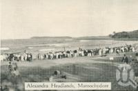 "<span class=""caption-caption"">Alexandra Headland(s), Maroochydore</span>, c1930. <br />Postcard folder by <span class=""caption-publisher"">Unknown Publisher</span>, collection of <span class=""caption-contributor"">Centre for the Government of Queensland</span>."