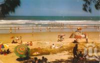 "<span class=""caption-caption"">Surfing beach, Maroochydore</span>, 1961. <br />Postcard by <span class=""caption-publisher"">Murray Views Pty Ltd</span>, collection of <span class=""caption-contributor"">Centre for the Government of Queensland</span>."
