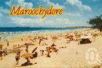 "<span class=""caption-caption"">Maroochydore</span>, c1962. <br />Postcard folder by <span class=""caption-publisher"">Sydney G Hughes Pty Ltd</span>, collection of <span class=""caption-contributor"">Centre for the Government of Queensland</span>."
