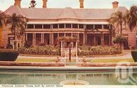 "<span class=""caption-caption"">Historic Jimbour House built by convict labour</span>, 1972. <br />Postcard folder by <span class=""caption-publisher"">Samuel Lee & Co Pty Ltd</span>, collection of <span class=""caption-contributor"">Centre for the Government of Queensland</span>."