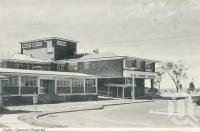 "<span class=""caption-caption"">Dalby General Hopsital</span>, 1972. <br />Postcard folder by <span class=""caption-publisher"">Samuel Lee & Co Pty Ltd</span>, collection of <span class=""caption-contributor"">Centre for the Government of Queensland</span>."