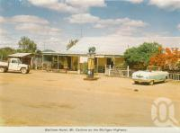 """<span class=""""caption-caption"""">Wolfram Hotel, Mt Carbine on the Mulligan Highway</span>, c1964. <br />Postcard folder by <span class=""""caption-publisher"""">Unknown Publisher</span>, collection of <span class=""""caption-contributor"""">Centre for the Government of Queensland</span>."""