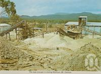 """<span class=""""caption-caption"""">The new concept in mining Wolfram, Mt Carbine</span>, c1964. <br />Postcard folder by <span class=""""caption-publisher"""">Unknown Publisher</span>, collection of <span class=""""caption-contributor"""">Centre for the Government of Queensland</span>."""