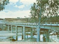"<span class=""caption-caption"">The new bridge crossing the Palmer on the Mulligan Highway to Cooktown</span>, c1964. <br />Postcard folder by <span class=""caption-publisher"">Unknown Publisher</span>, collection of <span class=""caption-contributor"">Centre for the Government of Queensland</span>."
