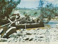 "<span class=""caption-caption"">Old bridge, Palmer River</span>, c1964. <br />Postcard folder by <span class=""caption-publisher"">Unknown Publisher</span>, collection of <span class=""caption-contributor"">Centre for the Government of Queensland</span>."
