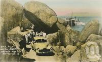 "<span class=""caption-caption"">Rock arch and taxi service, Arcadia, Magnetic Island</span>, c1958. <br />Postcard by <span class=""caption-publisher"">Unknown Publisher</span>, collection of <span class=""caption-contributor"">Centre for the Government of Queensland</span>."