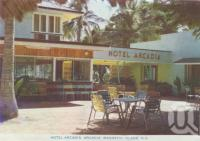 "<span class=""caption-caption"">Hotel Arcadia, Arcadia, Magnetic Island</span>, c1960. <br />Postcard folder by <span class=""caption-publisher"">Murray Studios Pty Ltd</span>, collection of <span class=""caption-contributor"">Centre for the Government of Queensland</span>."