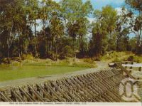 "<span class=""caption-caption"">Weir on the Dawson River at Theodore, Dawson-Callide Valley</span>, c1972. <br />Postcard folder by <span class=""caption-publisher"">Murray Views Pty Ltd</span>, collection of <span class=""caption-contributor"">Centre for the Government of Queensland</span>."