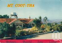 "<span class=""caption-caption"">Mt Coot-tha Brisbane's beautiful scenic lookout</span>, c1958. <br />Postcard folder by <span class=""caption-publisher"">Nucolorvue</span>, collection of <span class=""caption-contributor"">Centre for the Government of Queensland</span>."