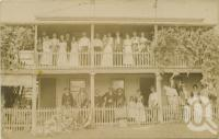 "<span class=""caption-caption"">Mrs Hansen's boarding house, Gayndah</span>, c1905. <br />Postcard by <span class=""caption-publisher"">Unknown Publisher</span>, collection of <span class=""caption-contributor"">Centre for the Government of Queensland</span>."