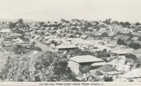 "<span class=""caption-caption"">Calton Hill from Court House Tower, Gympie</span>, c1956. <br />Postcard folder by <span class=""caption-publisher"">Murray Views Pty Ltd</span>, collection of <span class=""caption-contributor"">Centre for the Government of Queensland</span>."