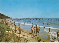 "<span class=""caption-caption"">Swimming area and jetty, Scarness, Hervey Bay</span>, c1970. <br />Postcard folder by <span class=""caption-publisher"">Murray Views Pty Ltd</span>, collection of <span class=""caption-contributor"">Centre for the Government of Queensland</span>."