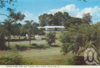 "<span class=""caption-caption"">Banana Ridge Kiosk and Caravan Park, Pialba, Hervey Bay</span>, c1960. <br />Postcard folder by <span class=""caption-publisher"">Murray Views Pty Ltd</span>, collection of <span class=""caption-contributor"">Centre for the Government of Queensland</span>."