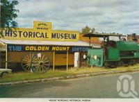 "<span class=""caption-caption"">Mount Morgan's historical museum</span>, c1966. <br />Postcard folder by <span class=""caption-publisher"">Sydney G Hughes Pty Ltd</span>, collection of <span class=""caption-contributor"">Centre for the Government of Queensland</span>."
