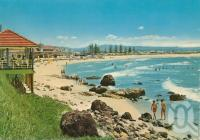 """<span class=""""caption-caption"""">Kirra Beach, Kirra Gold Coast</span>, c1962. <br />Postcard by <span class=""""caption-publisher"""">John Engelander & Co Pty Ltd</span>, collection of <span class=""""caption-contributor"""">Centre for the Government of Queensland</span>."""
