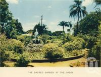 "<span class=""caption-caption"">The sacred gardens, the Oasis</span>, c1960. <br />Postcard folder by <span class=""caption-publisher"">Sydney G Hughes Pty Ltd</span>, collection of <span class=""caption-contributor"">John Young</span>."