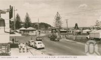"""<span class=""""caption-caption"""">The border gates Queensland and New South Wales</span>, c1958. <br />Postcard by <span class=""""caption-publisher"""">Unknown Publisher</span>, collection of <span class=""""caption-contributor"""">John Young</span>."""